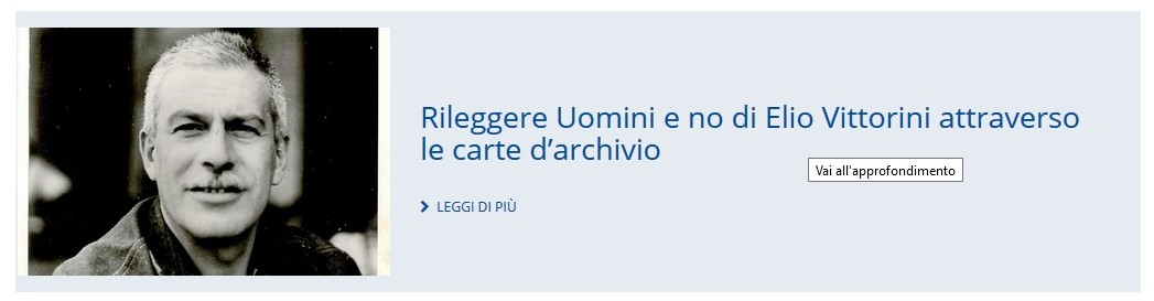 Approfondimento su Elio Vittorini